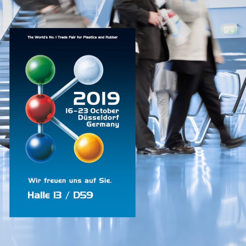 Visit us at K2019 hall 13 booth D59